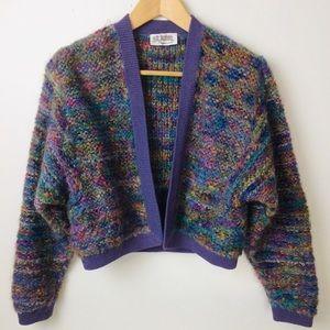 ST JOHN Vintage Mohair Knit Cardigan Sweater Sm